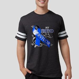 My Friend is a Survivor (blue) Mens Football Shirt