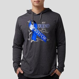 My Friend is a Survivor (blue) Mens Hooded Shirt