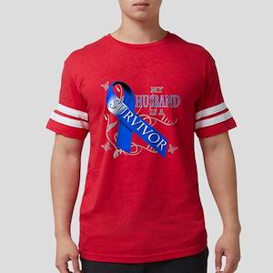 My Husband is a Survivor (blue Mens Football Shirt