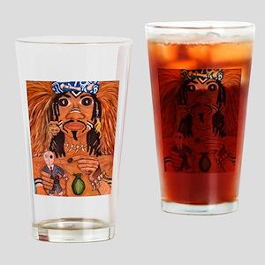 voodoo man Drinking Glass