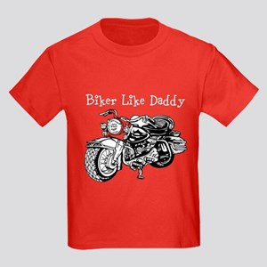 Biker Like Daddy Kids Dark T-Shirt