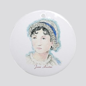 Jane Austen Painting Ornament (Round)