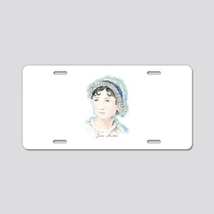 Jane Austen Painting Aluminum License Plate