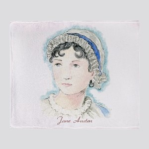 Jane Austen Painting Throw Blanket