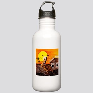Brown Pelican at Sunset Stainless Water Bottle 1.0
