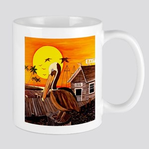 Brown Pelican at Sunset Mug