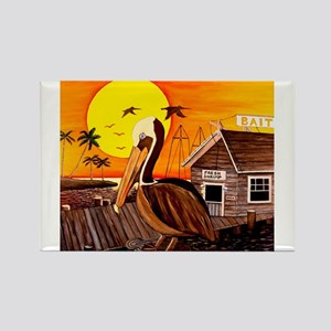 Brown Pelican at Sunset Rectangle Magnet