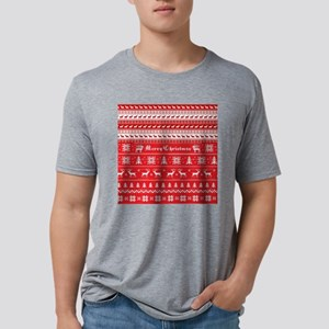 Ugly Christmas Sweater Shir Mens Tri-blend T-Shirt