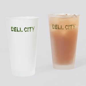 Dell City, Vintage Camo, Drinking Glass