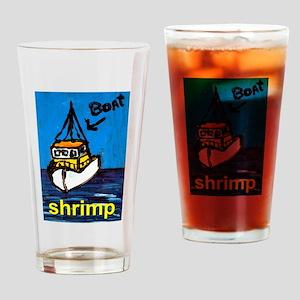 Shrimp Boat Drinking Glass
