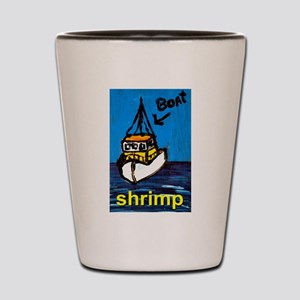 Shrimp Boat Shot Glass