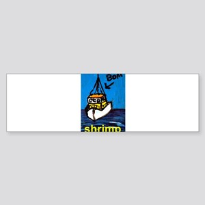 Shrimp Boat Sticker (Bumper)
