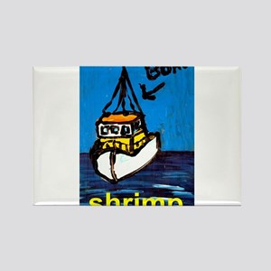 Shrimp Boat Rectangle Magnet