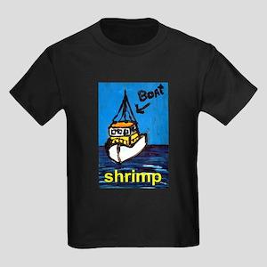 Shrimp Boat Kids Dark T-Shirt