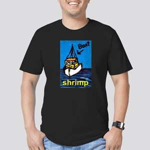 Shrimp Boat Men's Fitted T-Shirt (dark)