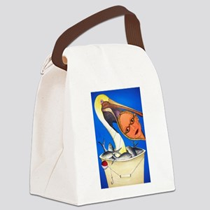 Brown Pelican with Head Canvas Lunch Bag