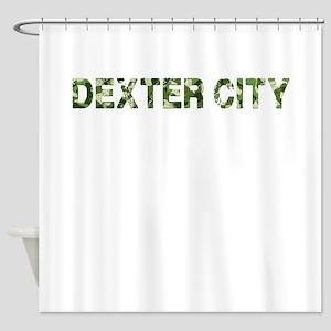 Dexter City Vintage Camo Shower Curtain