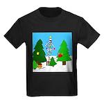 Merry Christmas! Kids Dark T-Shirt
