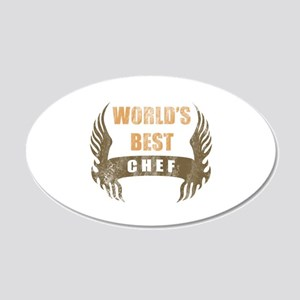 World's Best Chef (Wings) 20x12 Oval Wall Decal