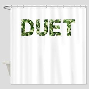 Duet, Vintage Camo, Shower Curtain