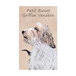Petit Basset Griffon Vendéen Sticker (Rectangle)