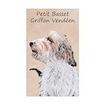 Petit Basset Griffon Ven Sticker (Rectangle 50 pk)