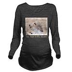 Petit Basset Griffon Long Sleeve Maternity T-Shirt