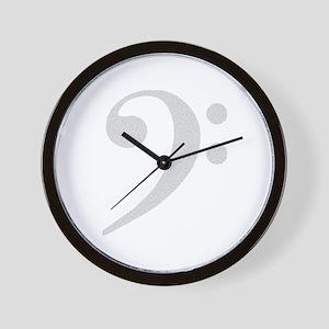 Noiz Bass Clef 2 Wall Clock