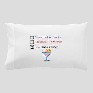 Cocktail Party color - Political Humor Pillow Case