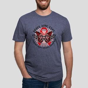 Heart-Disease-Butterfly-Tri Mens Tri-blend T-Shirt