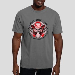 Heart-Disease-Butterfly- Mens Comfort Colors Shirt