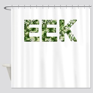 Eek, Vintage Camo, Shower Curtain