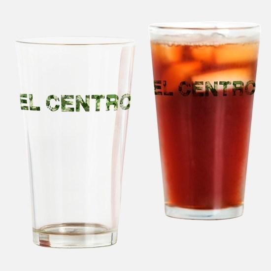 El Centro, Vintage Camo, Drinking Glass