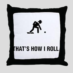 Lawn Bowl Throw Pillow