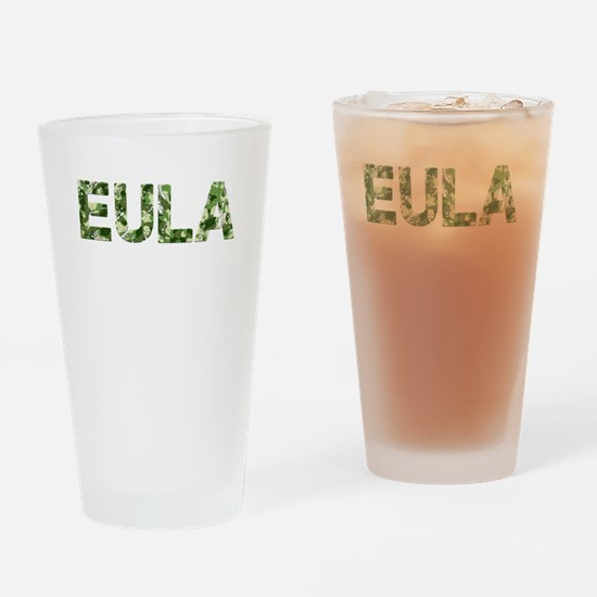 Eula, Vintage Camo, Drinking Glass