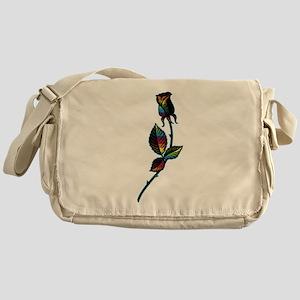 Gay Black Rose Messenger Bag
