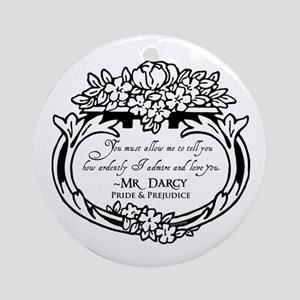 Mr Darcy Pride and Prejudice Ornament (Round)