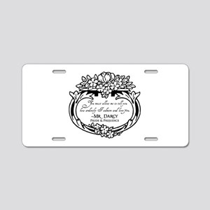 Mr Darcy Pride and Prejudice Aluminum License Plat