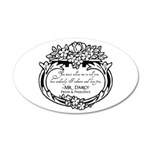 Mr Darcy Pride and Prejudice 35x21 Oval Wall Decal