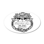 Mr Darcy Pride and Prejudice 20x12 Oval Wall Decal