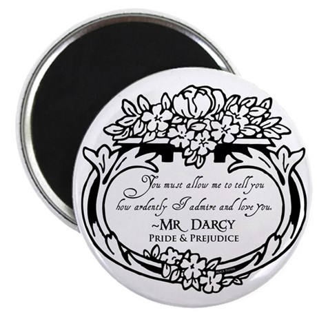 "Mr Darcy Pride and Prejudice 2.25"" Magnet (100 pac"
