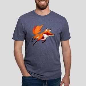 Sly Red Fox Running Mens Tri-blend T-Shirt