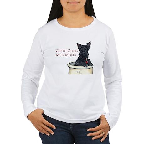 Miss Molly Scottish Terrier Long Sleeve T-Shirt