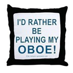 Playing Oboe Throw Pillow