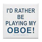 Playing Oboe Tile Coaster