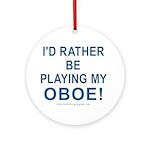 Playing Oboe Keepsake Ornament