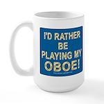 Playing Oboe Large Mug