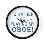 Playing Oboe Wall Clock