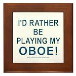 Playing Oboe Framed Tile