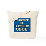 Playing Oboe Tote Bag